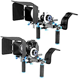 Neewer DSLR Rig Set Movie Kit Film Making System, include Shoulder Mount Follow Focus and Matte Box for All DSLR Cameras and Video Camcorders