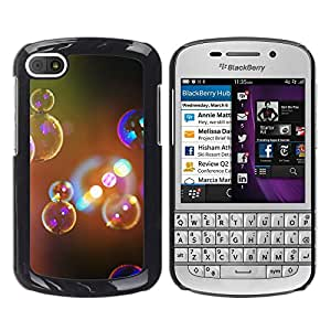 Paccase / SLIM PC / Aliminium Casa Carcasa Funda Case Cover para - Bubbles Soap Light Prism Glitter Bath Art - BlackBerry Q10