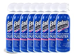 Endust 12985 Electronics 10oz Duster with Bitterant - 8 Pack