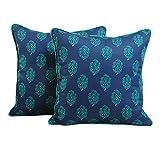 Yuga Home Décor Printed Cushion Cover 24 X 24 Inches Printed Decorative Pillowcase 2 Pcs