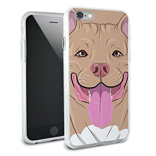 Pit Bull Pitbull blau Rehkitz–American Staffordshire Terrier, aus Hybrid Rubber Schutz Hülle Slim Case Cover Etui Bumper für Apple iPhone 6