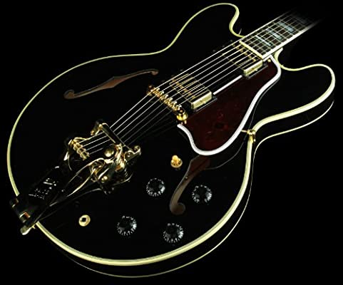 Gibson ES-355 guitarra eléctrica con Bigsby envejecido ébano ...