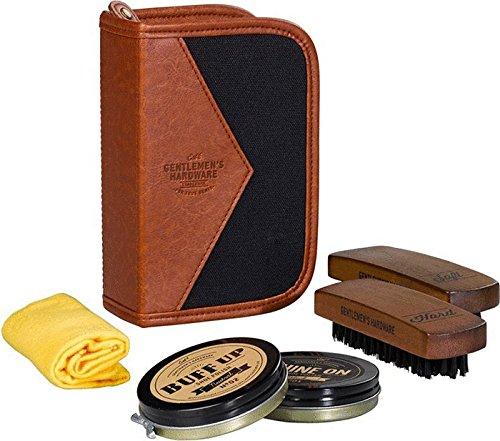 Gentlemen's Hardware Shoe Shine Kit, Black from Gentlemen's Hardware