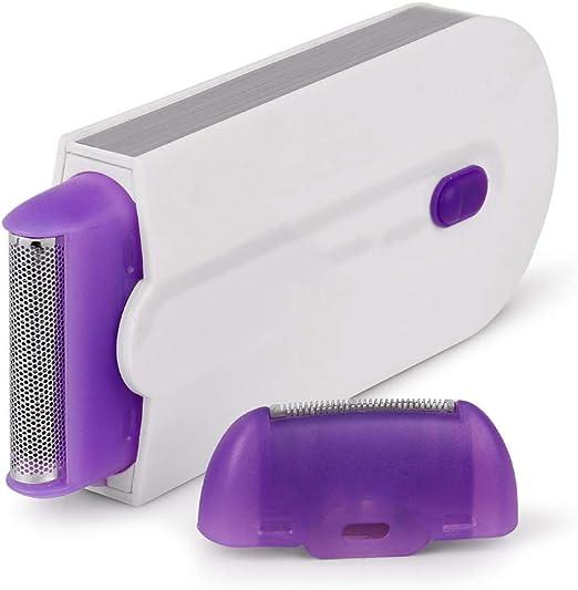ADAHX Depiladora, inducción láser indolora Azul afeitadora eléctrica láser depilación depiladora, Sensor de Afeitar ...