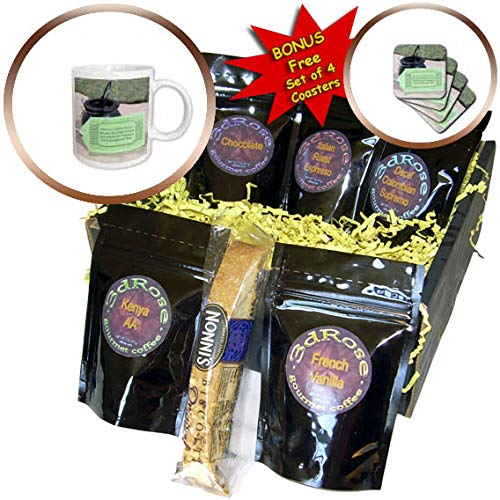 3dRose Jos Fauxtographee- Irish Saying - Troubles less blessings more happiness come through your door - Coffee Gift Baskets - Coffee Gift Basket (cgb_304182_1)