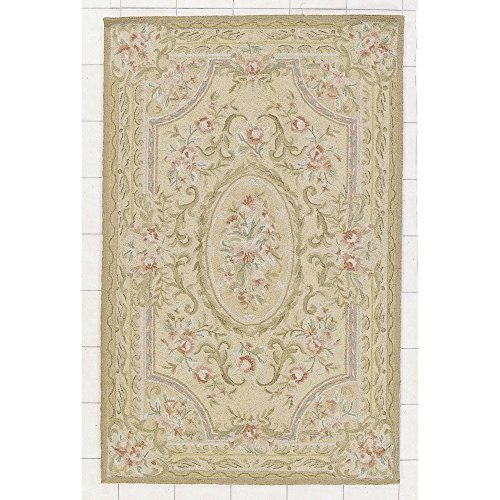 Rug Rectangle Antique Gold (Nourison Country Heritage (H478) Gold Rectangle Area Rug, 4-Feet 6-Inches by 6-Feet 6-Inches (4'6