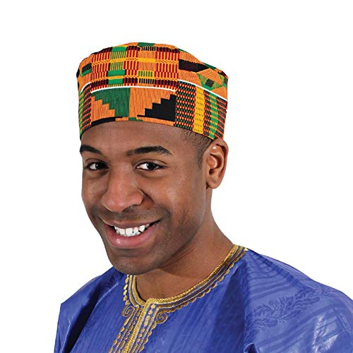 Shophaven African Kente Kufi Hat, Kofi Hat, Ankara Cap, African Men Hat,  Choir, Black History Month Men Accessory: Amazon.in: Clothing & Accessories