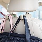 ChiTronic Car SUV Seat Back Headrest Hanger Hooks - Set of 2 (Beige)