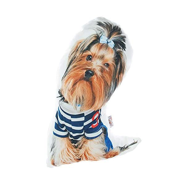 Apolena Animal Shaped Decorative Pet Filled Throw Pillow, Cats & Dogs, Yorkshire Terrier 1