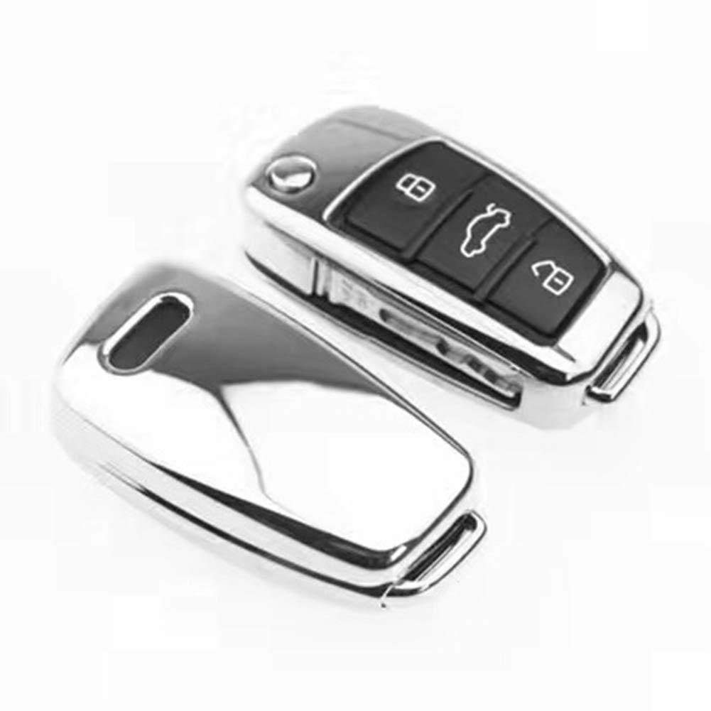 CricTeQleap TPU Pieghevole Auto Chiave di Protezione per Audi A1/A3/S3/S5/S6/R8/Q3/A6