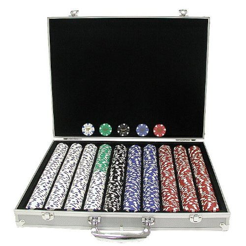 Trademark 1,000 Landmark Casino 11.5 Gram Poker Chips with Aluminium Case, (Landmark Casino Chip)