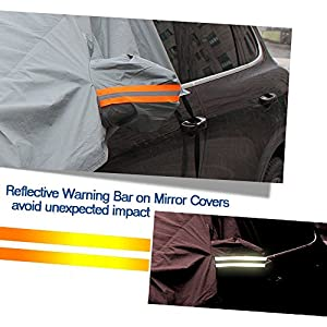 Windshield Protector Snow Cover with Ice Scraper and Free Storage Pouch, IC ICLOVER Ice Snow Sun Dust Frost Guard and Windproof Car Windshield Cover Fit for Cars, CRVs and SUVs
