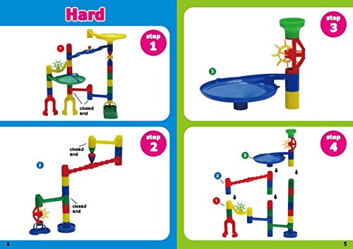 Edushape Marbulous Marble Run - 82 Pieces + 50 Marbles (Total 132 Pc Set) Sturdy Setups with Clear Step-by-step Illustrated Instructions in Four Different Skills Levels by Edushape (Image #7)
