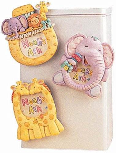 Amscan Delightful Noah's Ark Magnets Baby Shower Party Novelty Favors, 3-3/4 x 3 1/4