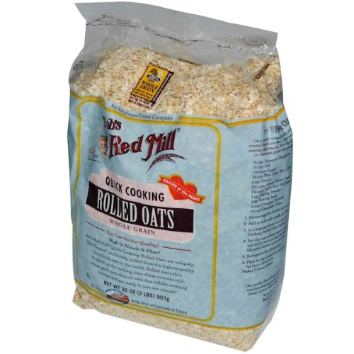 Bob's Red Mill Oats Rolled Quick Cookin, 32-ounces (Pack of4)