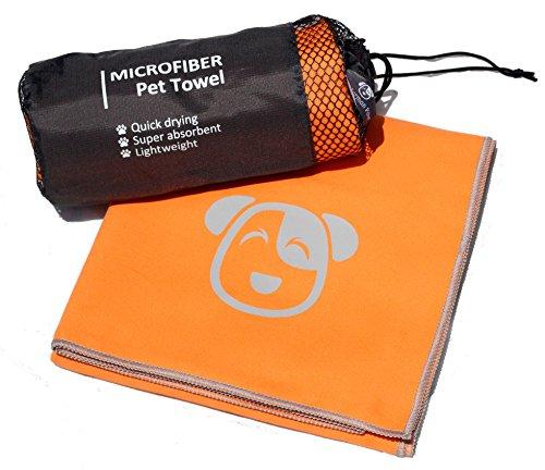 "The German Päw Microfiber Pet Towel, 31""x50"", Orange, Quick Drying"