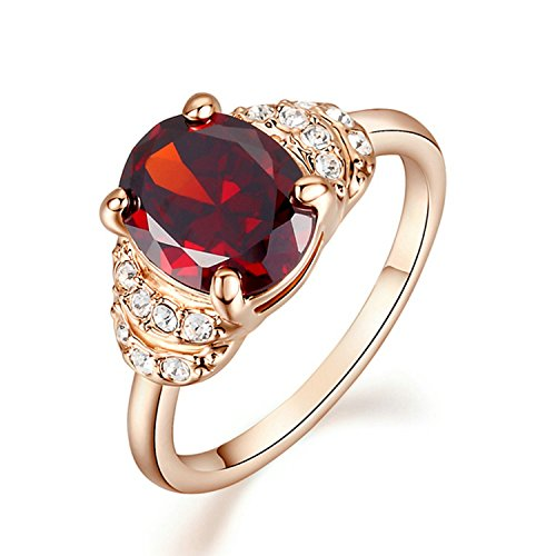 red cocktail ring - 9