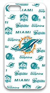 W/W NFL Football Miami Dolphins Apple Candy Case - iPhone 5 Hard Plastic Case