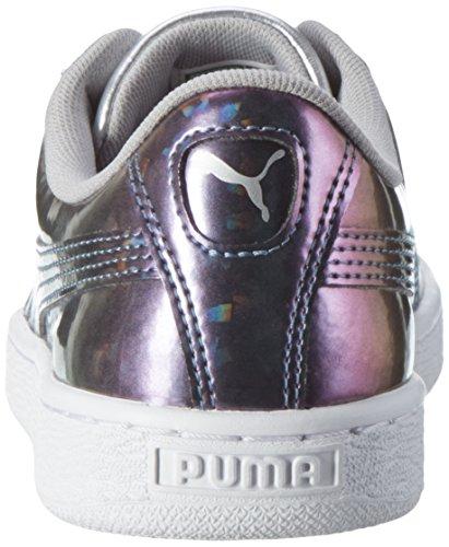 Puma Basket Classic Holo Jr, Zapatillas Unisex Niños Gris (Puma Silver-puma Silver 03)