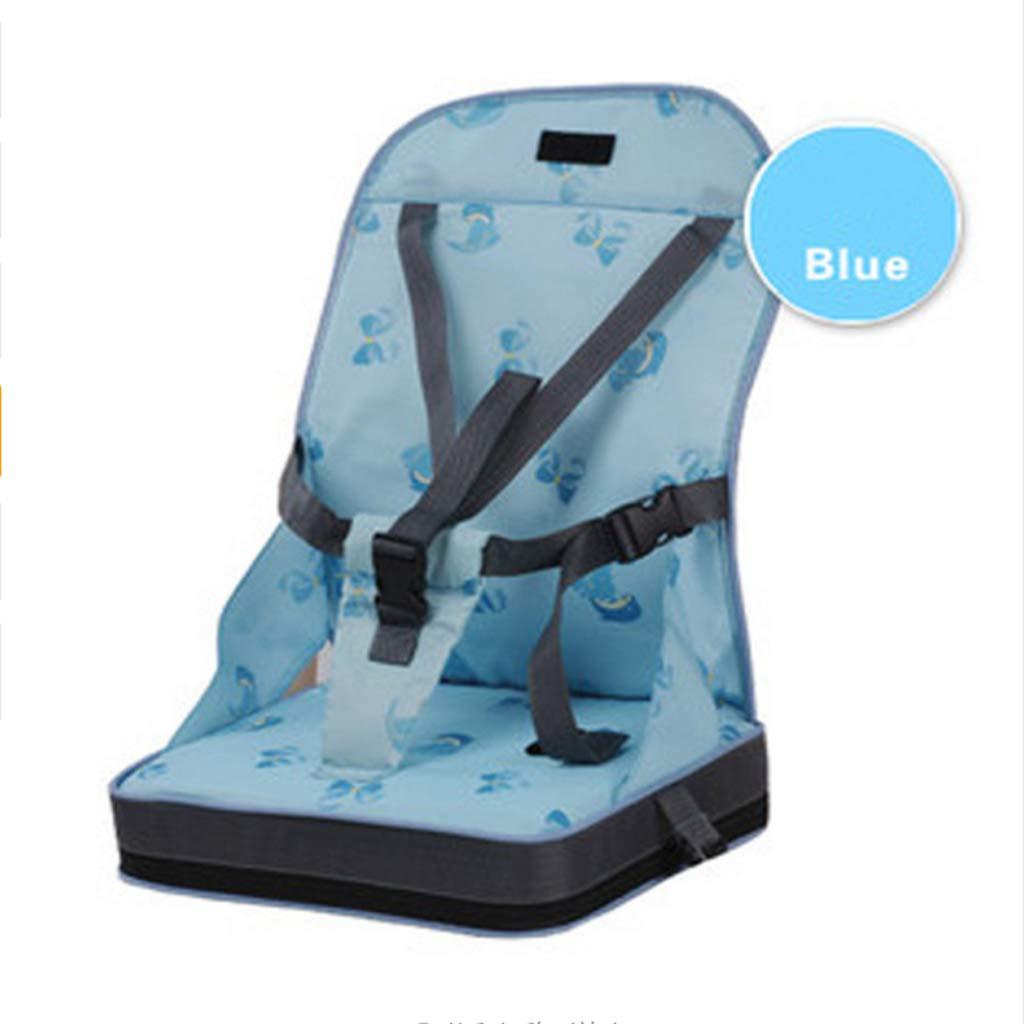 ダイニングチェアバッグ ベビーポータブルシート オックスフォード 防水生地 幼児 旅行 折りたたみ式 子供用安全ベルト 給餌 ハイチェア ブルー 123456  ブルー B07MLWW28S