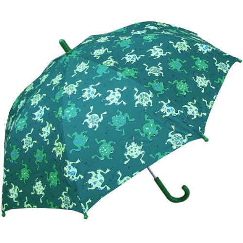 RainStoppers Boy's Frogs Print Umbrella, 34-Inch (Umbrella Frog)