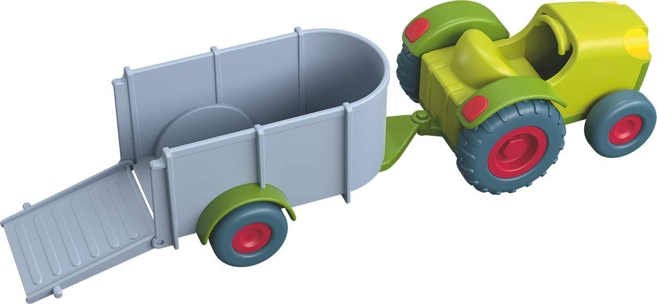 Traktor mit Anhänger Puppe Haba 303131 Little Friends Bauernhof