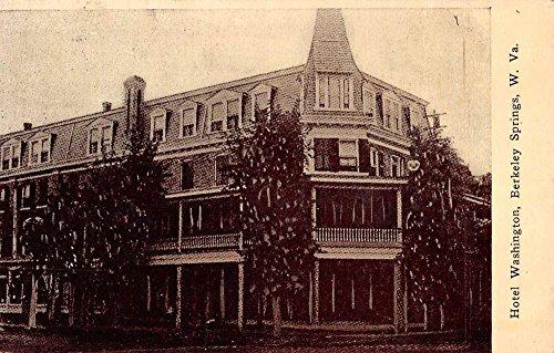 Berkeley Springs West Virginia Hotel Washington Street View Postcard K88459