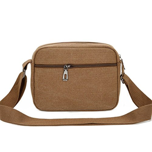 Ombro Casual Omitir Brown1 Computer Casual Lienzo Bag Hombres Paquete xw5gn