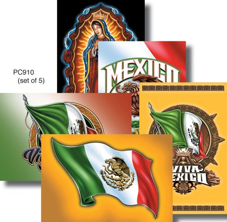 """5 x Vince Concepcion of Gamma Canvas Viva Mexico Collectible Frameable Postcard Pack - 4""""x 6"""" Inches POST CARDS"""