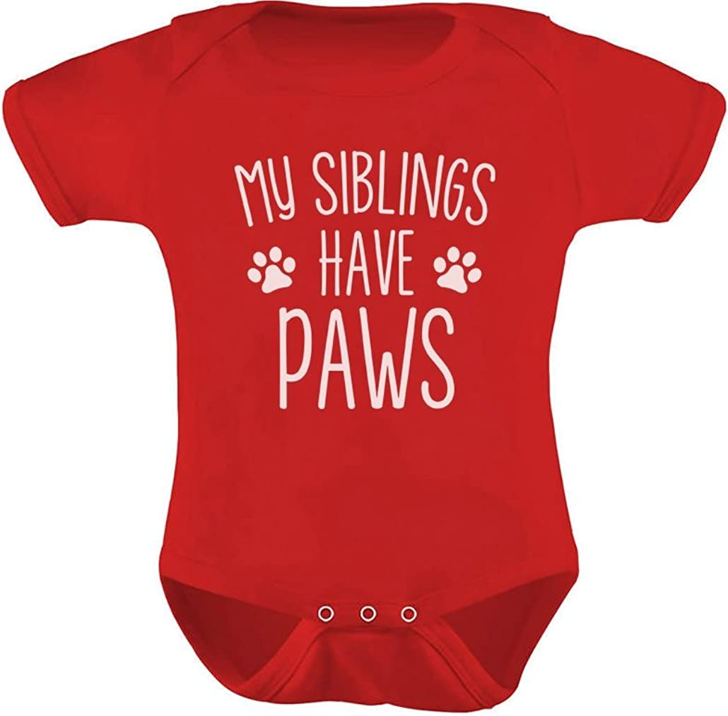 My Siblings Have Paws Funny Infant Baby Boy Girl Bodysuit 51vlONFNDSL