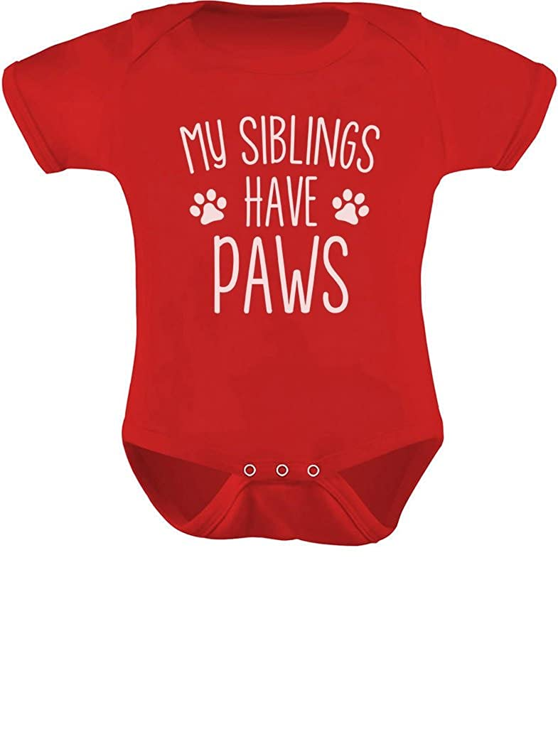 TeeStars - My Siblings Have Paws Funny One-Piece Infant Baby Bodysuit GtPhPMPgj