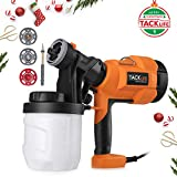 Paint Sprayer,Tacklife Paint Gun 800ml/min with Three Spray Patterns, Four Nozzle Sizes, Adjustable Valve Knob, Quick Refill Lid and 900ml Detachable Container | SGP15AC