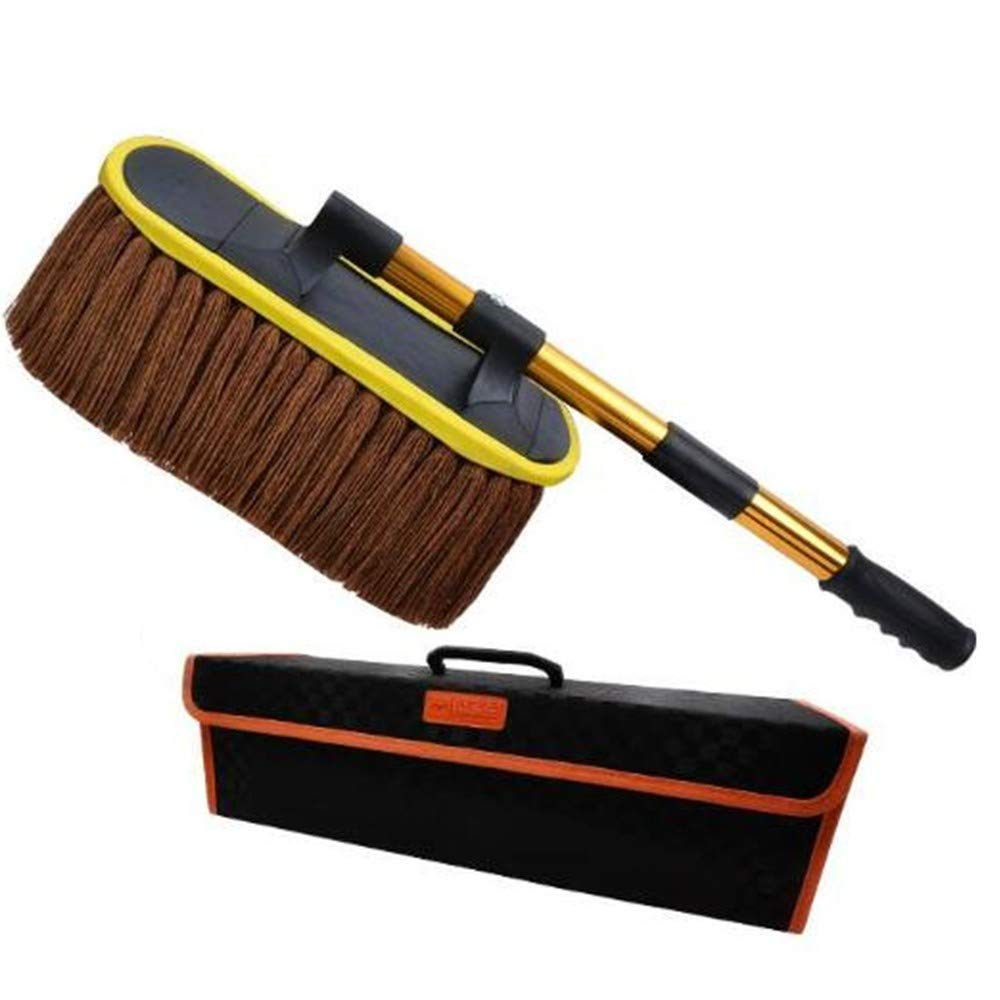 Multi-Functional Wax Tow Car Brush Cleaning Tool, Brown, Standard
