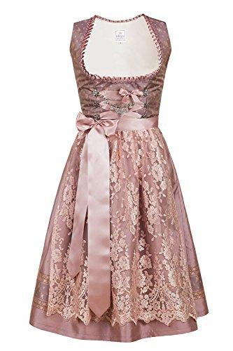 Edelnice Trachtenmode Bavarian Women's Designer Midi Dirndl Madeleine Dress 2-Pieces + Apron (48(US18))