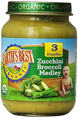 Earth's Best Organic Stage 3, Zucchini & Broccoli Medley,...