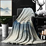 Unique Custom Double Sides Print Flannel Blankets Bromo Tengger Semeru National Park In East Java Indonesia On Morning Mount Bromo M Super Soft Blanketry for Bed Couch, Throw Blanket 40 x 60 Inches