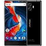 Ulefone MIX - schermo da 5.5 pollici senza finestre Corning Gorilla Glass 3 vetro Android 7.0 smartphone 4G, Octa Core 1.5GHz 4GB RAM 64GB ROM, fotocamere triple (13MP + 5MP + 13MP), Nero