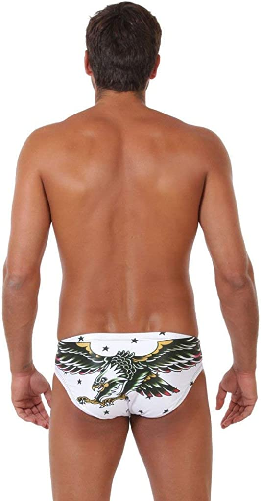 ZUMO Eagle Tattoo Men's Athletic Swimwear, Men's Swim Briefs for First Rate Active Swimwear, Men's Water Polo Swimsuit