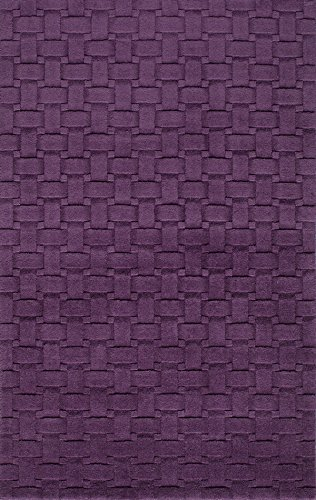 Metro Wool Area Rug (Momeni Rugs METROMT-21PLM2339 Metro Collection, 100% Wool Hand Loomed Contemporary Area Rug, 2'3