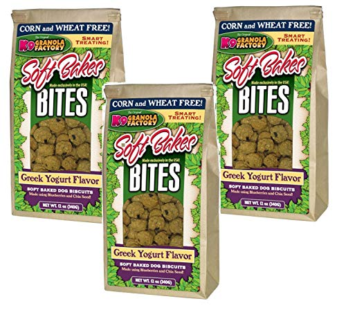 K9 Granola Factory Soft Bakes Bites, 36 Ounces, Greek Yogurt Soft Baked Dog Biscuits, Corn and Wheat Free