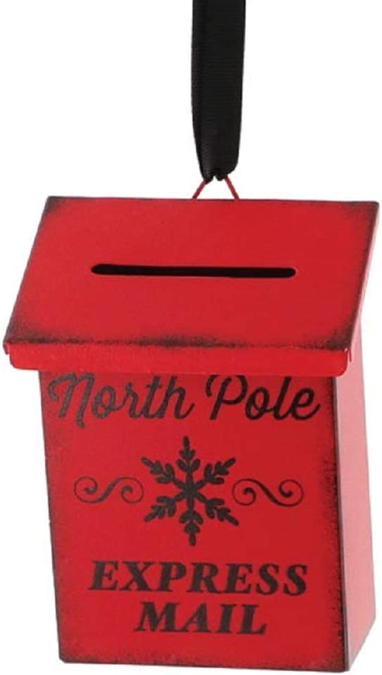 burton+BURTON RED North Pole Mailbox Ornament
