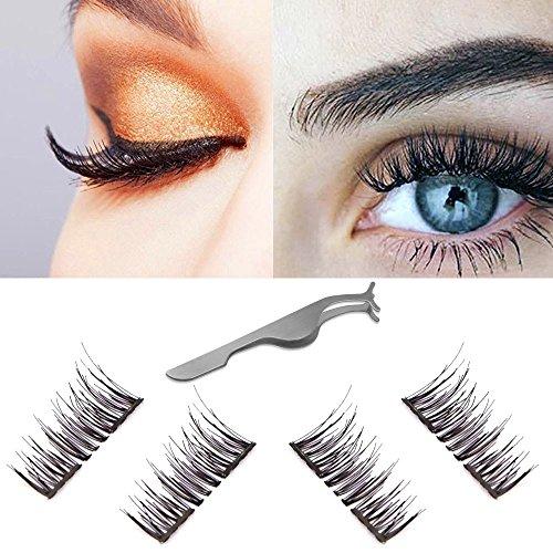 cf378e3d22e Dual Magnetic Eyelashes 3D Wispy False Lashes Natural Reusable Fake Eyelash  Extensions-Ultra Thin Handmade