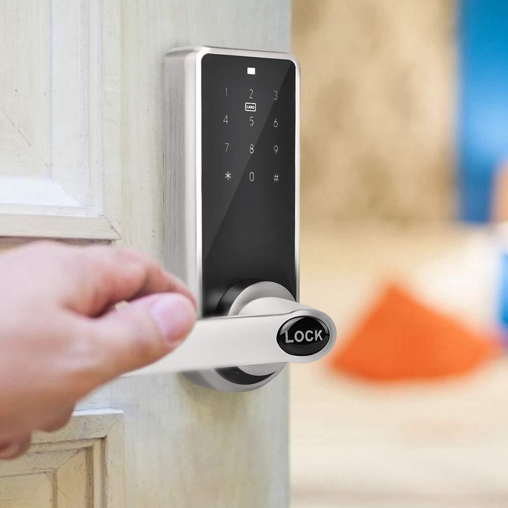 wasserdicht f/ür Office Hotel Home Garage Apartment Bluetooth Smart Lock Smart T/ürschloss App Smart BT Elektronisches T/ürschloss elektronische T/ürschl/össer mit Code Touch Passwort Sicherheit