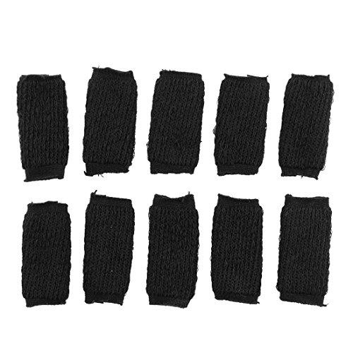 uxcell Elastic Outdoor Sports Finger Sleeve Protector Guard 10 Pcs Black
