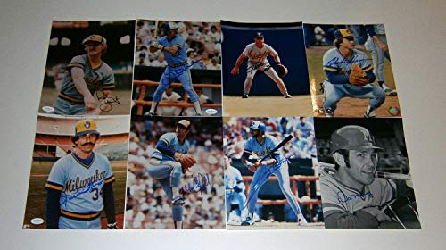 22 1982 Brewers Autographed Signed 8x10 Photos Lot Robin Yount Rollie Fingers JSA - Authentic Memorabilia
