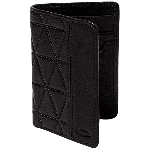 Oakley Mens Leathers Slim Wallet One Size Jet Black