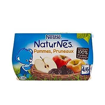 Schmiegen Naturnes Äpfel Und Pflaumen (4-6 Monate) 4 X 130 G - Packung mit 6
