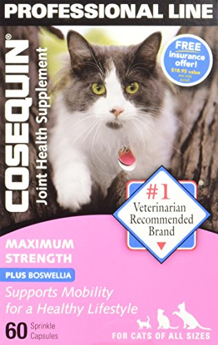 Cosequin For Cats - Maximum Strength Plus Boswellia Joint Health Supplement for All Cats - 60 capsules