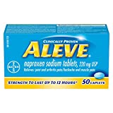 ALEVE Pain Relief Caplets, Up To 12-Hour Relief, Naproxen Sodium 220mg, 50 Caplets