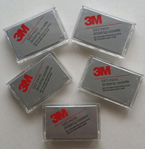 Microcassette Tapes 3m Micro Dictating Cassette 60 Minutes Box of 5 Tapes